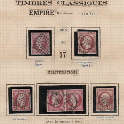 Frankreich 1850 - Lot with Napoleons