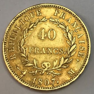 France - 40 Francs 1807-M Napoléon I - Gold