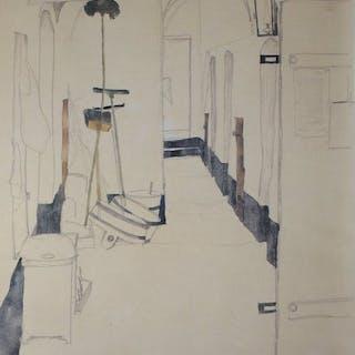 Egon Schiele (1890 - 1918) - Flur 1912 - Ausgabe 1964.