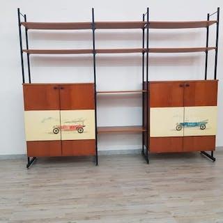 Libreria modulare anni 1950-60