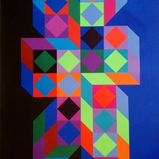 Victor Vasarely - Olympia- 1972