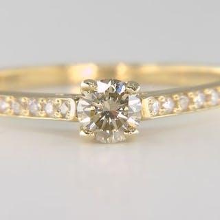 14 kt. Yellow gold - Ring - 0.40 ct Diamond - Diamonds