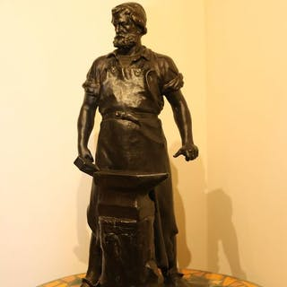 PeterHahn von Albermann - Bronze-Skulptur (1) - Der schmied
