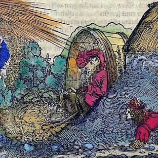 Hans Weiditz (1500-1536) - Master Woodcut - Medieval...