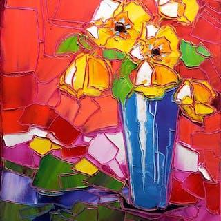 Caroline Mandrafina - Le bouquet jaune