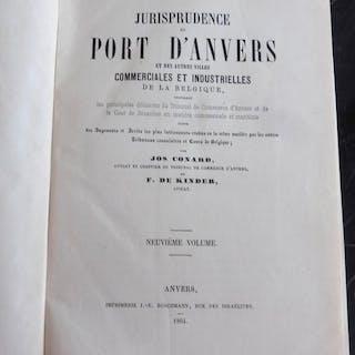 Jos. Conard et F. de Kinder - Jurisprudence du Port d'Anvers- 1864