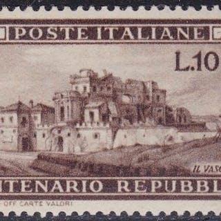 Italien Republik 1949 - Roman Republic 100 Lire - Sassone N. 600
