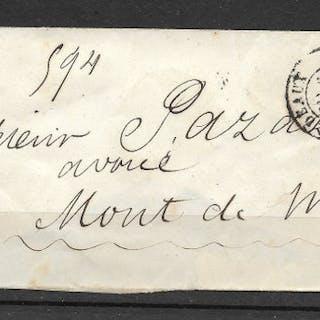France 1854 - Rare Yvert N°18 1fr Carmin sur lettre...