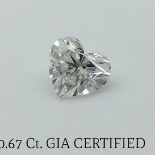 Diamond - 0.67 ct - Heart - F - SI1