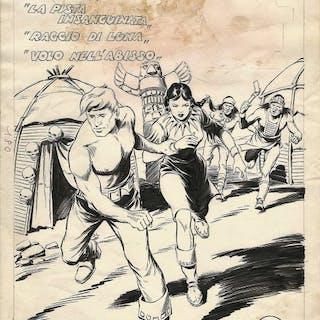 Avventure del West #9 - Galep - cover originale - Lose Seiten - (1954)