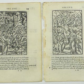 2 woodcuts leaves by Pierre Regnault (1489-1528)...
