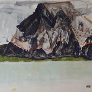 """Egon Schiele (1890 - 1918) - """"Der Mittagskogel bei Villach"""" 1917"""