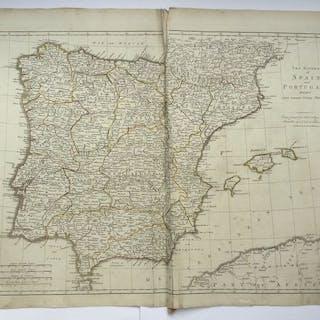 Spagna, Portugal; Robert Sayer  - The Kingdoms of Spain...