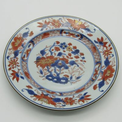 Assiette (1) - Imari - Porcelaine - Fleurs - Chine - XVIIIe siècle