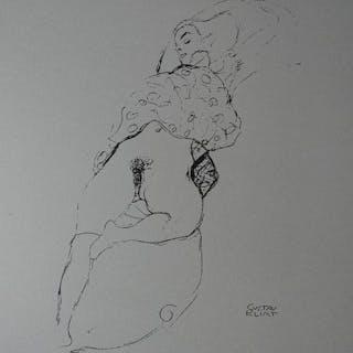 Nach Gustav Klimt (1862 - 1918) - Akt-Studie