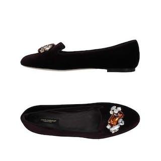Dolce & Gabbana - Velvet Flats Mocasines - Talla: US 6