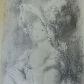 Pierre-Auguste Renoir (1841-1919) - Jeune femme en buste...