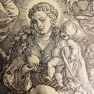"""da Albrecht Durer (Norimberga 1471-1528) - """"Maria regina degli angeli"""" 1518"""