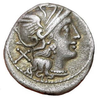 Römische Republik - AR Denarius,Anonymous c