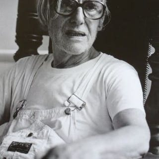 Nico Koster (1940-)- Willem de Kooning in his studio, ca 1979