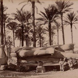 Félix Bonfils (1831-1885) - Statue colossale de Ramsès II à Memphis, Egypte