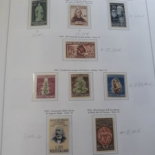 Italien Republik 1950/1953 - Collection of values of the...