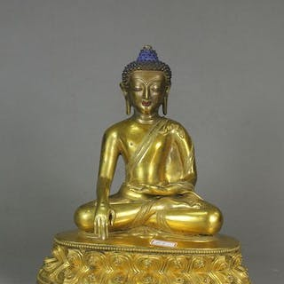 Shakyamuni - Gilt bronze - China - 17th century