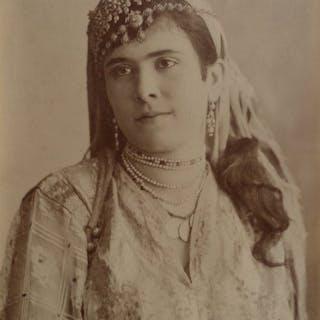Non identifié (XIX) - Femme berbère avec bijoux, Afrique du Nord