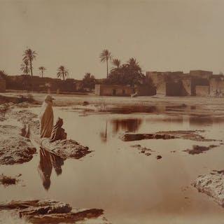 Alexandre Bougault fils (1875-1950) - Inondation devant Biskra, Algérie