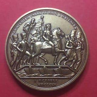 Frankreich - Napoléon I - Médaille 'Passage du Rhin à Mayence 1806' par Denon