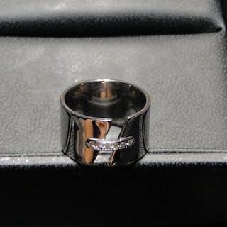 18 carats Or blanc - Bague - 0.20 ct Diamant