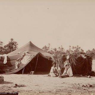 Non identifié (XIX) - Campement arabe à Biskra