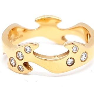Georg Jensen - 18 kts. Gelbgold - Ring Diamant