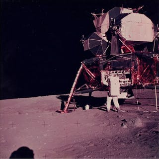 Neil Armstrong/NASA - AS11-40-5928- Astronaut Edwin...
