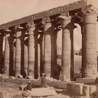 C & G.Zangaki et H.Arnoux (XIX) - 11 clichés des sites antiques de Thèbes