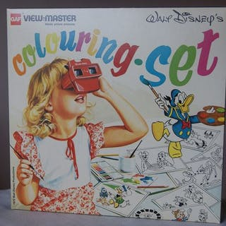 GAF View-Master Coloring Set (1975) SELTEN