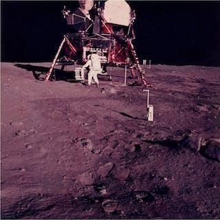 Neil Armstrong/NASA - AS11-40-5931- Buzz Aldrin prepares...