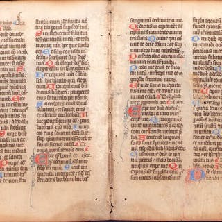 Manuscript; Illuminated Fragment from the Holy Bible...