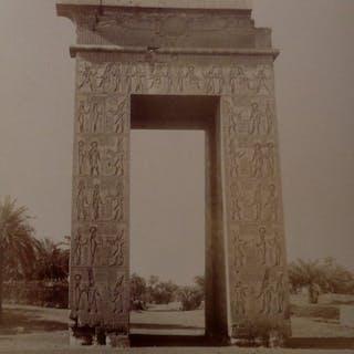 C & G.Zangaki (XIX) - 5 clichés des sites antiques de Karnak et Louqsor, Egypte.