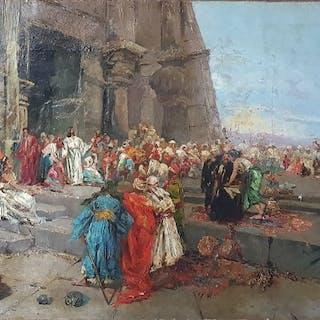 Scuola italiana XIX-XX secolo- Cristo fuori dal tempio