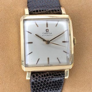 Omega - Vintage Automatic Square Shaped Silver Dial...