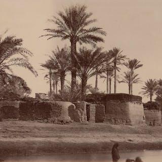 Non identifié (XIX) - Entrée de la palmeraie de Biskra, Algérie