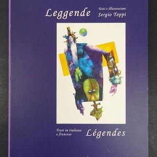 """Sergio Toppi - vol. """"Leggende"""" con incisione firmata - Hardcover - Erstausgabe"""