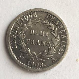 Frankreich - 1/2 Franc 1808-A Napoléon I - Silber