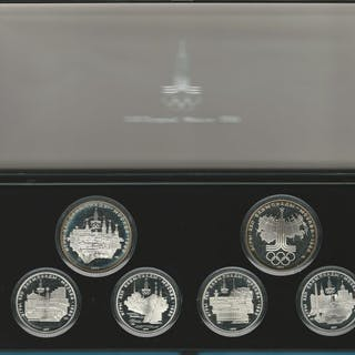 Russland - Set of 6 coins 1977 XXII Olympische Spelen...