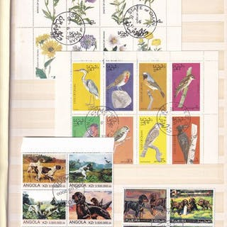 Welt - Thematic stamps in stock book animals/plants/flowers
