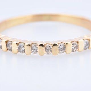 18 kt. Yellow gold - Ring - 0.18 ct Diamond - Diamond