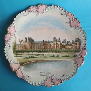 Limoges - assiette Chateau Fontainebleau - Porcelaine