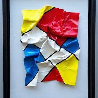 """Mivillage """"KreukelArt"""" - Mondriaan - 3D - nr 16"""