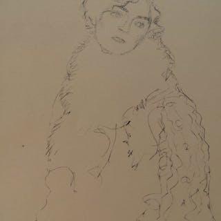 Naar Gustav Klimt- Girl